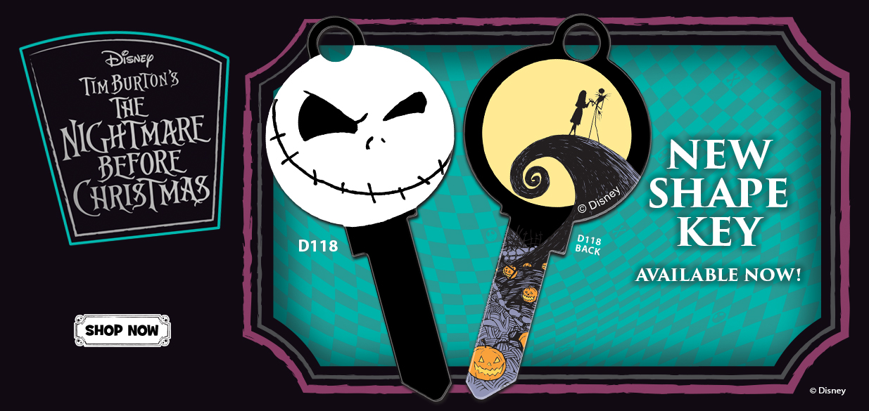 Shop our New Nightmare Before Christmas Jack Skellington Shape House Key!
