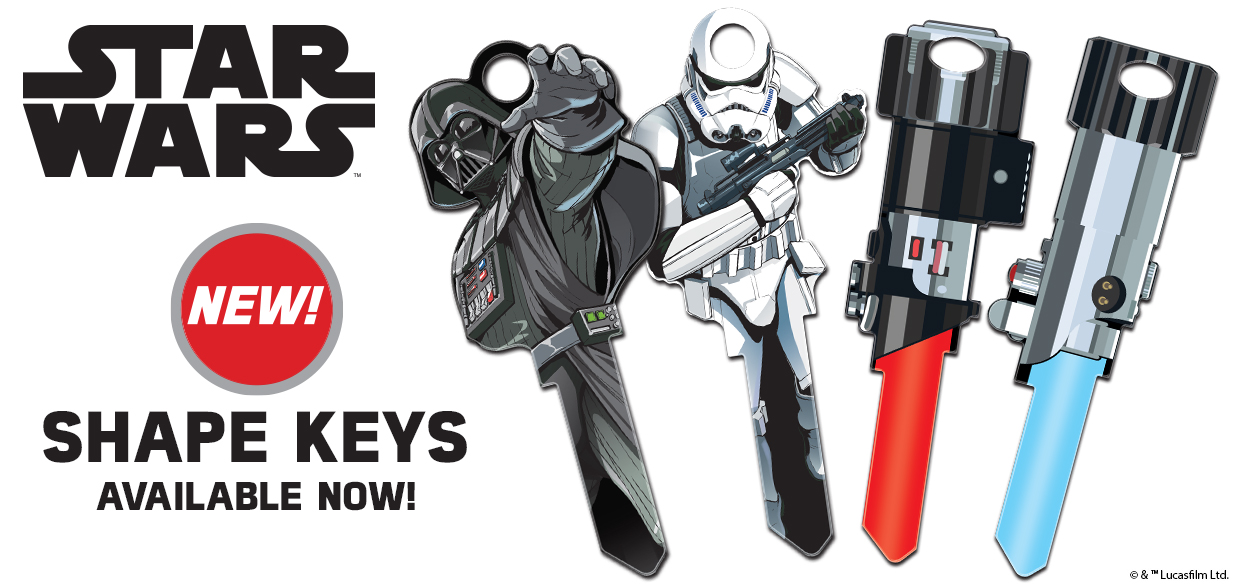 Shop our New Licensed Star Wars Shaped House Keys!