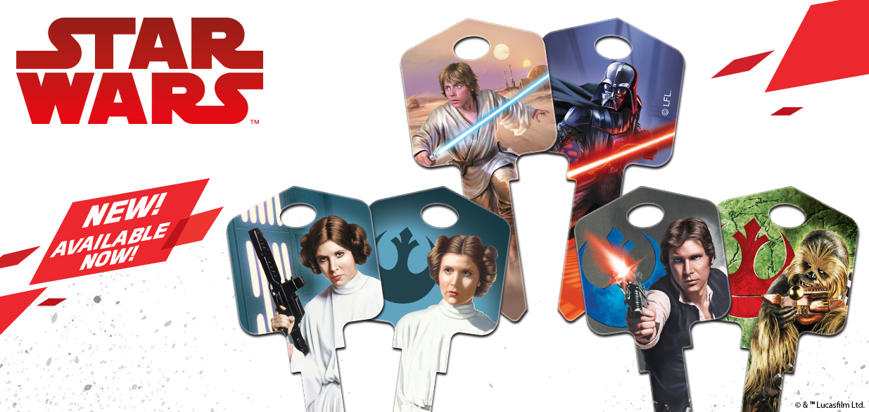 New Licensed Star Wars House Keys Available Now!