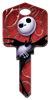 D105 - Jack & Sally Disney, nightmare, before, christmas, jack, skellington, sally, tim, burton, halloween, pumpkin, king, licensed, house, key, KW, kwikset, sc1, schlage, wr, weiser