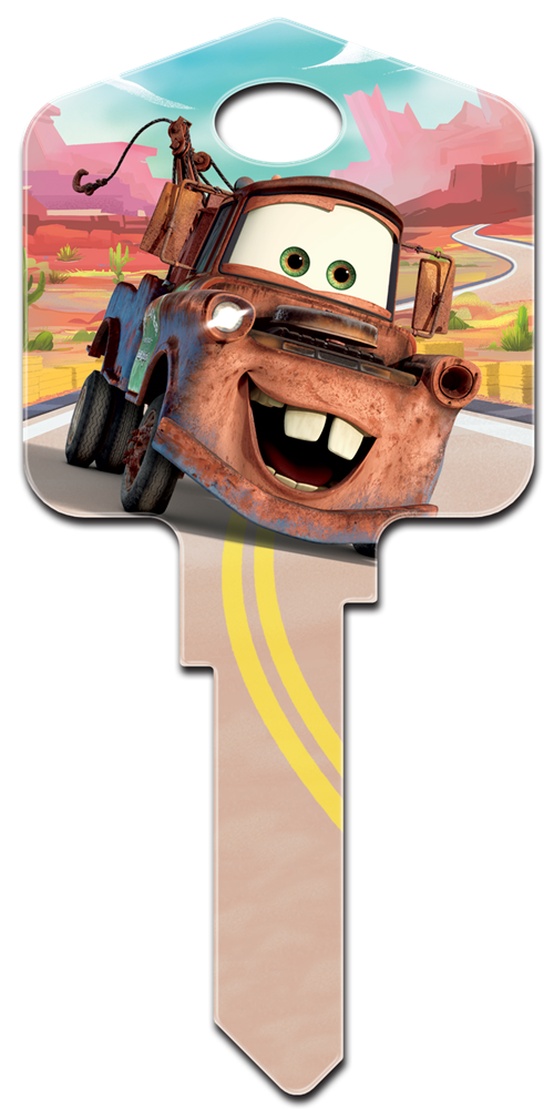 disney pixar cars mater licensed painted house key blank