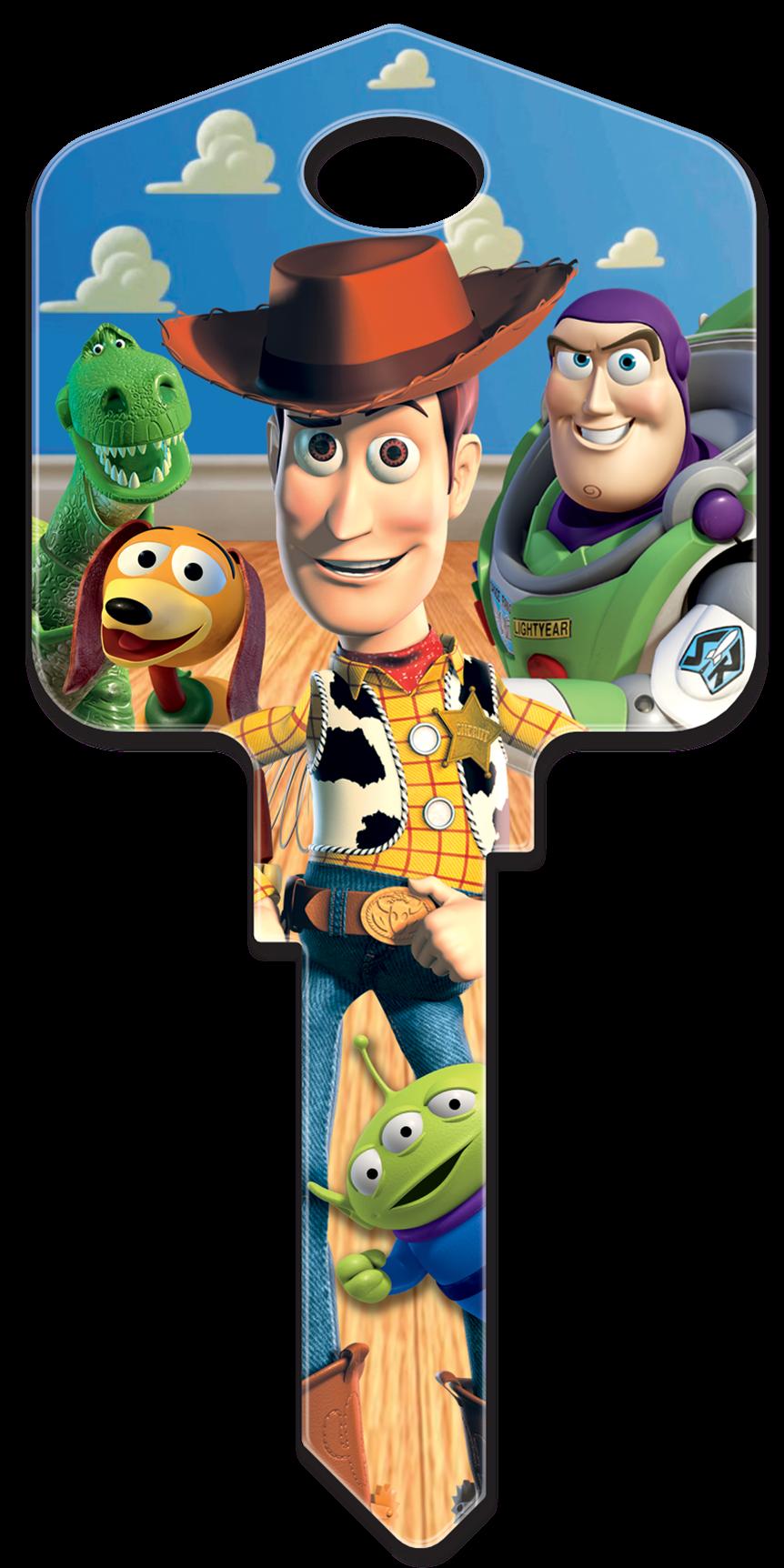 Disney Pixar 'Toy Story' Buzz & Woody large headed licensed painted house key blank