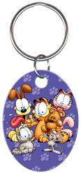 KC-G4 - Garfield & Friends Garfield, friends, key chain