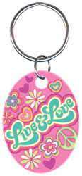 KC-PG2 - Live & Love Pampered,girls,key,house key,keys,licensed,official,art,keychain,Girls, live and love, key chain