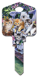 AC1 - Kittens Artisan Collection,kittens,house key blanks,cats,keys,cute,pets,animals