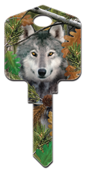 DPW2 - Wolf Deep Woods, Wolf, house key, forest, licensed, blank key