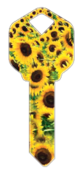 HK14 - Sunflowers happy, key, sunflowers, sunflower, flower, flowers, field, summer, floral, house, keys, kw, sc1, wr5, kwikset, schlage, weiser