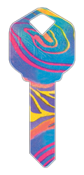 HK7 - Rainbow Swirl happy, key, rainbow, swirl, colorful, house, keys, kw, sc1, wr5