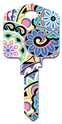 PG7 - Pinwheels Pampered Girls, Pinwheels, house key blank,house key,house keys,art,licensed,key,keys,sc1,kw,wr