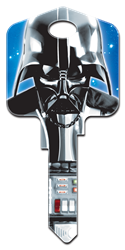 SW1 - Darth Vader Star Wars,darth,vader,force,awakens,empire,strikes,back,sith,licensed,official,art,key,keys,house keys,house key, Darth Vader, house key, licensed, painted, key blank