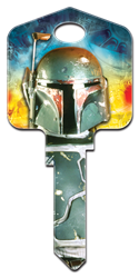 SW3 - Boba Fett Star Wars,boba,fett,star,wars,force,be,with,you,art,licensed,official,sc1,wr,kw,key,keys,house key,house keys, Boba Fett, house key blank, licensed, painted