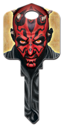 SW5 - Darth Maul Star Wars,star,wars,darth,maul,force,awakens,empire,strikes,back,licensed,official,sc1,kw,wr,key,house key,housekey, Darth Maul, house key blank, licensed, painted