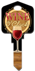 AC7 - Wine OClock Artisan Collection, Wine OClock, licensed, house key,wine,clock,key,keys,house keys,custom,licensed,art,kw,sc1,wr