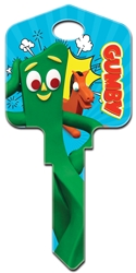 GY1 -  Gumby Gumby, Pokey, Licensed, Painted House Key Blank