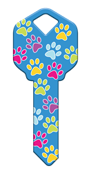 HK52 - Paw Prints happy, key, paw, prints, dog, dogs, puppy, puppies, pup, cat, cats, kitten, kittens, colorful, house, keys, kw, sc1, wr5