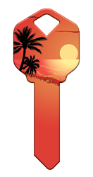 HK53 - Sunset happy, key, sunset, sun, beach, sand, ocean, waves, tropical, palm, trees, warm, summer, house, keys, kw, sc1, wr5