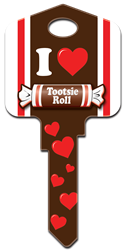 TR1 - Tootsie Roll Tootsie Roll, licensed, house key blank, painted