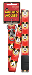 DSL7 - Red Starburst Mickey Disney,mickey,art,red,classic,animated,lanyard,breakaway,break,away, Starburst, Mickey