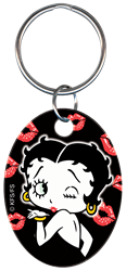 KC-B4 - Betty Boop & Kisses Betty Boop, kisses, key chain