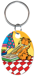 KC-G2 - Garfield & Lasagna Garfield, lasagna, key chain,licensed,art,garfield,chain,keychain