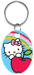 KC-SR4 - Hello Kitty Blue Hello,kitty,blue,keychain,key chain,key,keys,kw,sc1,wr, Kitty, black, key chain