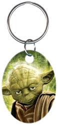KC-SW2 - Yoda Star Wars,star,wars,key,keys,keychain,art,licensed,license,key chain,art,gift,kw,sc1,wr, Yoda, key chain, metallic ink