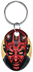 KC-SW5 - Darth Maul Star Wars,star,wars,key chain,keychain,official,licensed,key,keys,house keys,house key,force,empire,sith, Darth Maul, key chain, metallic ink