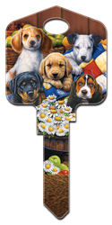 AC2 - Puppies Artisan Collection, puppies, house key blanks, licensed,key,keys,house keys,house key,puppies,dog,licensed,