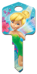 D47 - Fairies Disney,fairy,fairies,peter pan,tink,tinker,tinker bell,key,house keys,art,kw,sc1,wr,Tinker Bell, Fairies, licensed, painted, house keys, key blanks