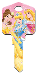 D49 - Disney Princesses 3 Disney,art,disney princesses,sleeping beauty,aurora,cinderella,princess,belle,castle,key,keys,house keys,art,animated,kw,wr,sc1, Princess Belle, Disney Princess Cinderella, Disney Aurora, Disney Princess Castle, Beauty and the Beast, Cinderella, and Rapunzel. licensed, painted, house key blank