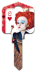 D59 - The Red Queen Disney, Alice in Wonderland, The Red Queen, house key blank, licensed