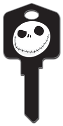 D66 - Jack Skellington Disney, nightmare, before, christmas, jack, skellington, tim, burton, halloween, pumpkin, king, licensed, house, key, KW, kwikset, sc1, schlage, wr, weiser