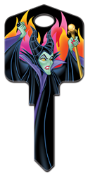 D97 - Maleficent Disney,sleeping,beauty,disney key,disney keys,animated,classic,kw,sc1,wr,maleficent, Sleeping Beauty, Maleficent, house key blank, licensed,