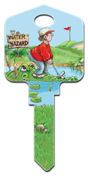 GP6 - Golfing Great Outdoors, Gary Patterson, Golfing, house key blanks, licensed, art, license,official,key,keys,house key,house keys