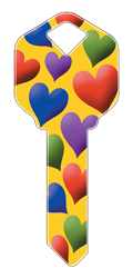 HK12 - Hearts happy, key, hearts, heart, colorful, pattern, love, house, keys, kw, sc1, wr5