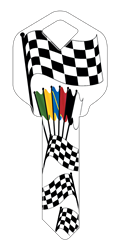 HK16 - Racing Flags happy, key, racing, flags, flag, checkered, caution, start, finish, nascar, motocross, super cross, mx, sx, house, keys, kw, sc1, wr5