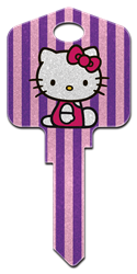 SR10 - Hello Kitty Glitter Hello Kitty,hello,kitty,key,house key,housekey,house keys,art,licensed,gift,fun,kw,sc1,wr, house key, glitter, licensed, painted, house key, key blanks