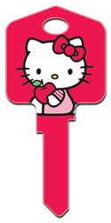 SR3 - Hello Kitty Red Hello Kitty,license,licensed,housekey,keys,key, house key, licensed, painted, key blanks, red