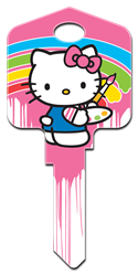 SR7 - Paint Hello Kitty, house key, licensed, painted, key blanks, paint,key,house keys,license,licensed,art,hello,kitty