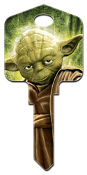 SW2 - Yoda Star Wars,star,wars,yoda,force,be,with,you,jedi,art,license,licensed,key,keys,gift,skywalker,key,keys,house keys,house key,sc1,wr,kw, Yoda, house key, licensed, key blank