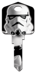 SW4 - Stormtrooper Star Wars,storm,trooper,stormtrooper,art,licensed,star,wars,key,keys,house key,house keys,large head,large,official,kw,wr,sc1, Stormtrooper, house key blank, licensed, painted