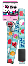 SRL2 - Patchwork Hello Kitty,hello,kitty,lanyard,lanyards,key,keys,art,official,licensed,license,art,gift,wr,kw,sc1,patchwork, lanyards