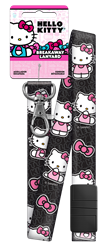 SRL3 - Black/Pink Hello Kitty,hello,kitty,art,lanyard,key,keys,organize,license,official, licensed,kw,wr,sc1,Black and Pink, lanyards