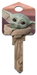 SW22 - The Child Star Wars, The Mandalorian, The Child, Disney+, house key blank, licensed house key, bb-8,android,droid