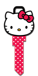 SR11 - Hello Kitty Head Shape Hello Kitty, Head Shape, Licensed, Painted, House Key Blank